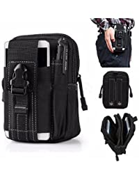 5.5/6 Inch Outdoor Tactical Sport Multifuctional Waist Bag Mens Waist Fanny Pack Belt Bag Pouch Travel Hip Purse... - B07FKHNNFG