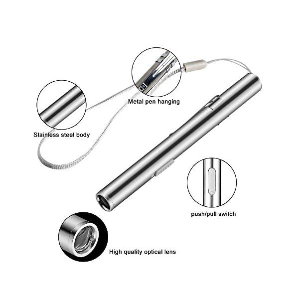 Teepao - Linterna de bolsillo recargable por USB para enfermería, estudiantes y médicos (2 unidades) 8