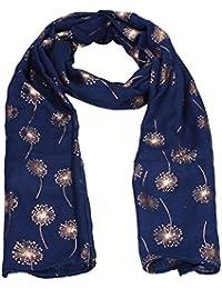 Macy Dandelion Rose Gold Foil Womens Viscose Scarf Shawl Wrap SWANKYSWANS