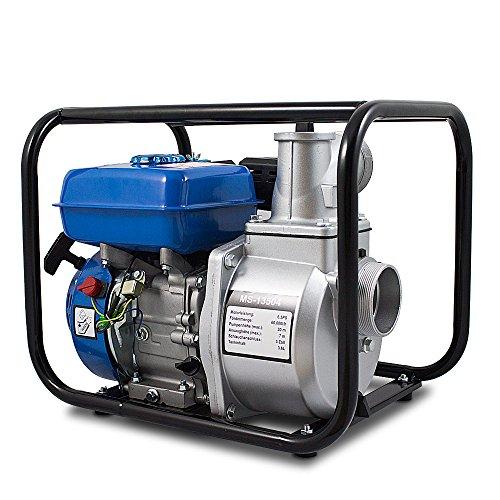 BITUXX® Benzin Schmutzwasserpumpe Wasserpumpe Motorpumpe Kreiselpumpe Gartenpumpe Teichpumpe 6,5PS, 60.000l/h, max. Förderlänge 36m, 3Zoll Anschluss - 3