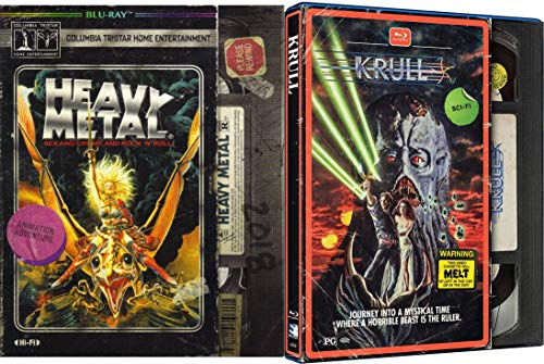 Journey Into A Mystical Time With Sex Crime & Rock 'N' Roll The Ultimate Fantasy SciFi Collection: Krull (EXCLUSIVE VHS PACKAGING) + Heavy Metal (EXCLUSIVE VHS PACKAGING) Blu Ray Double Feature Bundle
