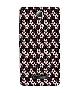 Fuson Designer Back Case Cover for Lenovo A2010 (Floral White Black Image Official Simple Girly)