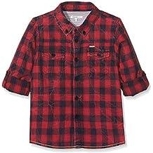 Noppies B Shirt Wvn LS Gela Check, T-Shirt Bambino