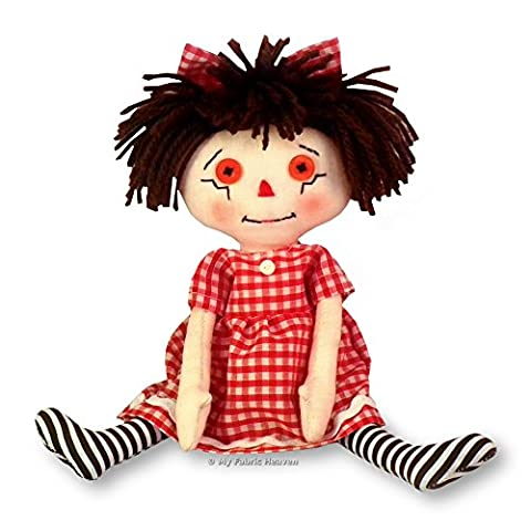 Dolly Sewing PATTERN Independent Design. 10 Inch Fabric Rag Doll & Easy Tutorial Style Instructions. Sarah Rag Doll FREE