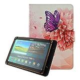 KATUMO Universal Tablet 10 Zoll Hülle, Schutzhülle für Samsung Galaxy Tab,Inklusive XIDO X111,Huawei MediaPad, Artizlee ATL-21plus 10 Zoll,Tablet PC ATL-21L,XIDO Z120/3G Tablet Pc ,Alldaymall 10 Zoll ,Lenovo Tab 2 A10-70 / Lenovo TAB3 10 Plus / YunTab 3G Tablet 10.1 inch / XIDO X110 10 inch, Schmetterlings Blume