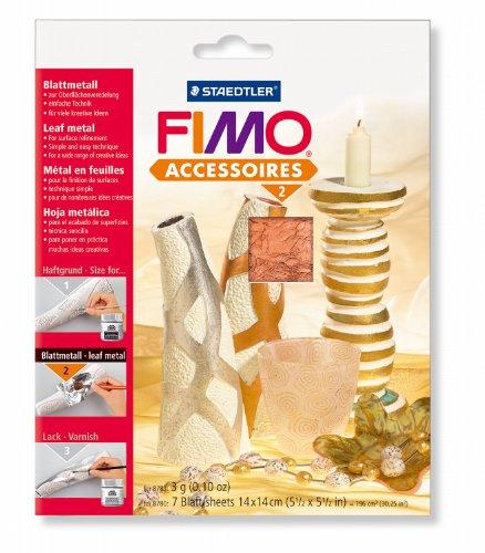 8780-26 Staedtler Fimo - Accessori per la modellazione di massa: un foglio di rame (7 fogli) [Importato da Germania]