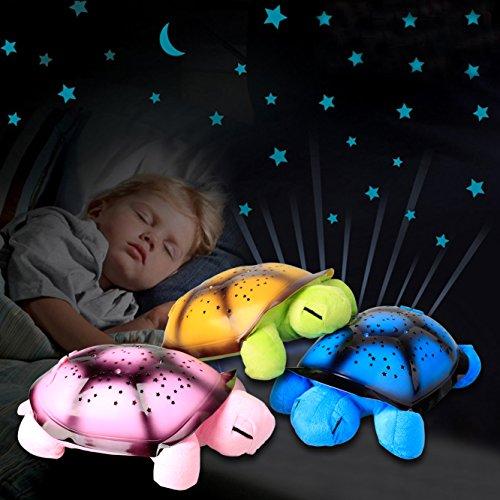 Preisvergleich Produktbild Baytter LED Schildkröte Sternenhimmel Projektor Sternenprojektor für Kinder, Kreatives Geschenk, Einschlafhilfe mit Melodie (grün)