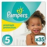 Pampers Premium Protection Windeln Gr. 5 (11-23kg), 1er Pack (1 x 35 Stück)