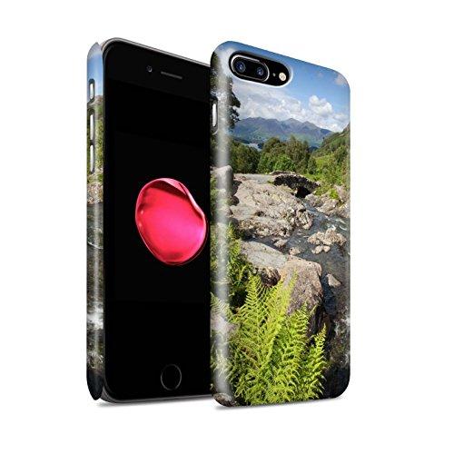 STUFF4 Matte Snap-On Hülle / Case für Apple iPhone 8 Plus / Strom Muster / Wasserfälle Kollektion Brücke