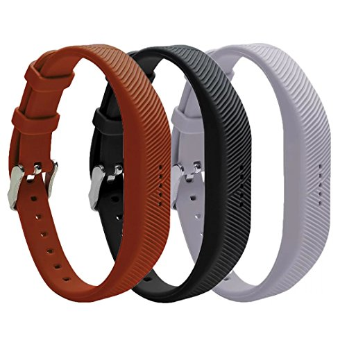 VAN-LUCKY Pulsera de silicona de reemplazo para pulseras de banda con hebilla de metal para Fitbit Flex 2 accesorio de banda de fitness