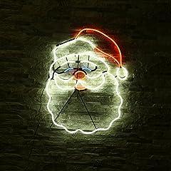 Idea Regalo - YKS-Babbo Natale Neon LED a parete 12V 8W luce decorazione di famiglia/caffè/Festa Impermeabile
