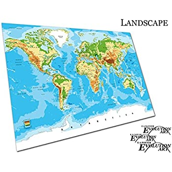 New world map a1 a2 a3 poster amazon kitchen home eaposter poster print detailed world map cities countries vector sizea2 gumiabroncs Image collections
