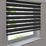 Doppelrollo PREMIUM 110 x 160 cm anthrazit zum Anschrauben freihängend für Wand- und Deckenmontage inkl. Metallträger