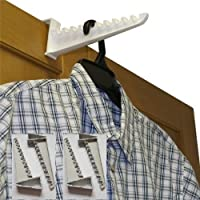 Over Door Plastic Ironing Hooks (Holds Up To 10 Hangers)