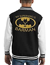 Batman My Hero Is Barman Kid's Varsity Jacket