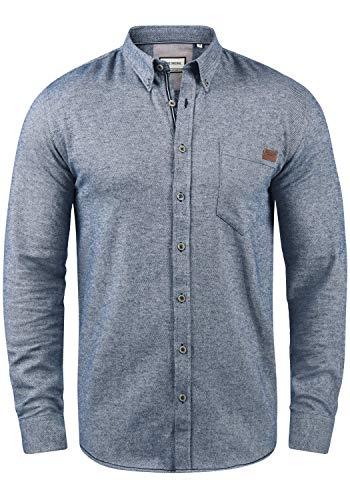 SHINE Original Ment Herren Freizeithemd Hemd Mit Brusttasche Aus 100% Baumwolle, Größe:S, Farbe:Blue