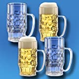 Unbekannt 4er-Set Bierkrug 0,5l SAN Kunststoffglas