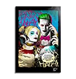Harley Quinn und Joker aus dem Film Suicide Squad - Original Gerahmt Fine Art Malerei, Pop-Art, Poster, Leinwand, Artwork, Film Plakat, Leinwanddruck, Dc Comics