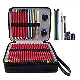 124logements Trousse étanche Tissu Oxford pratique crayon Wrap avec fermeture à glissière Super Grande capacité Pen Sac pour premier Crayons de couleur, crayons de couleur Crayola, Marco stylos