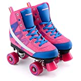 Osprey Chevron Fly High Top Knit Quad Skate 3 Rose