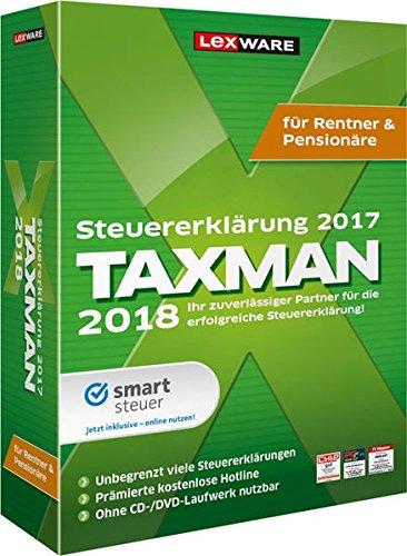 Lexware Taxman 2018 Minibox für Rentner und Pensionäre|Übersichtliche Steuererklärungssoftware für Rentner und Pensionäre|Kompatibel mit Windows 7 oder aktueller