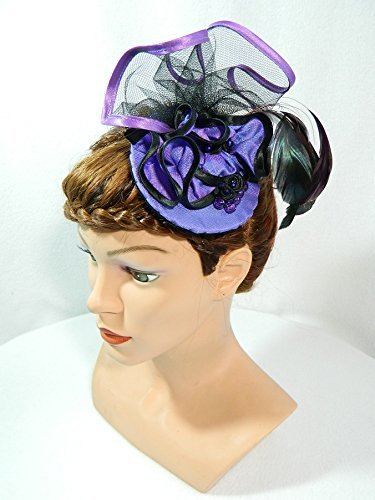 hat Headpiece Anlasshut Damenhut Burlesque Karneval Silvester Partyhut Hütchen Showgirl Swing (Showgirl Hüte)