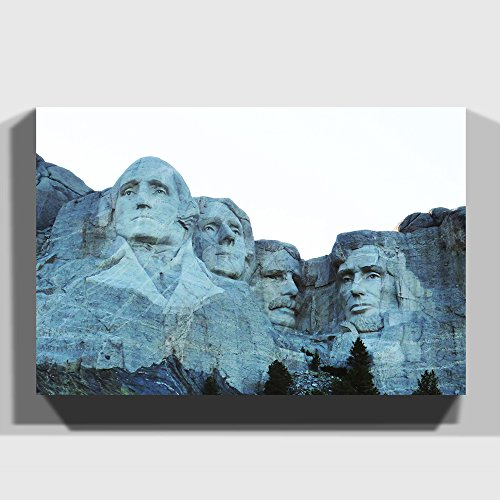 BIG Box Art Canvas Print 30 x 20 Inch (76 x 50 cm) Landscape Mount Rushmore South Dakota USA - Canvas Wall Art Picture Ready to Hang - FREE DELIVERY