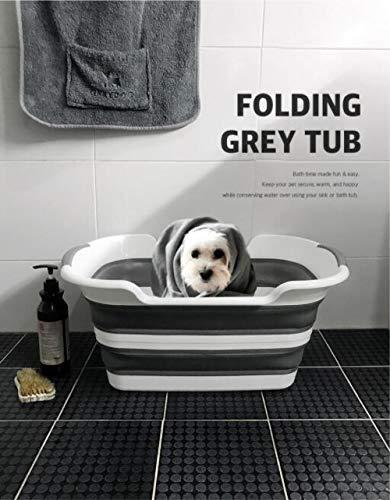 Feng Rui Hundebadewanne - Zusammenklappbares tragbares Hundebadesystem für kleine und mittelgroße Haustiere