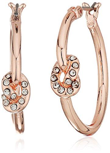t-tahari-hoop-with-crystal-knot-on-side-rose-gold-hoop-earrings