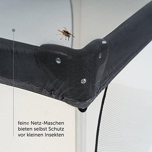 Universal Insektenschutz / Mückennetz für Kinderwagen, Buggy, Reisebett | idealer Schutz vor Wespen & Stechmücken dank feinem Netzgewebe | PREMIUM QUALITÄT: reißfest & waschbar | Grau, Schwarz