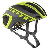 Scott Cadence Plus Triathlon Rennrad Fahrrad Helm schwarz/gelb 2018: Größe: M (55-59cm)