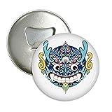 DIYthinker China Chinesischer Drache-Kopf Traditionelle Muster Rund Flaschenöffner Kühlschrank Magnet Pins Abzeichen-Knopf-Geschenk 3pcs Silber