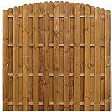 vidaXL Giardino Pannello di recinzione Hit & Miss verticale in legno design ad archi