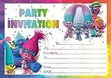 10 x Trolls Children Birthday Party Invitations