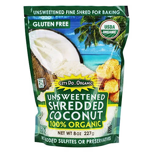 Let's Do.Organic - Shredded Coconut 100% Organic Unsweetened - 8 oz.