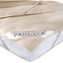 PROCAVE Funda de Molton para colchón, Protección colchón 100% algodón, Protector para la cama, made in Germany, 180x200cm