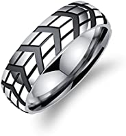 Yellow Chimes Western Style Stainless Steel Ring for Men and Boys