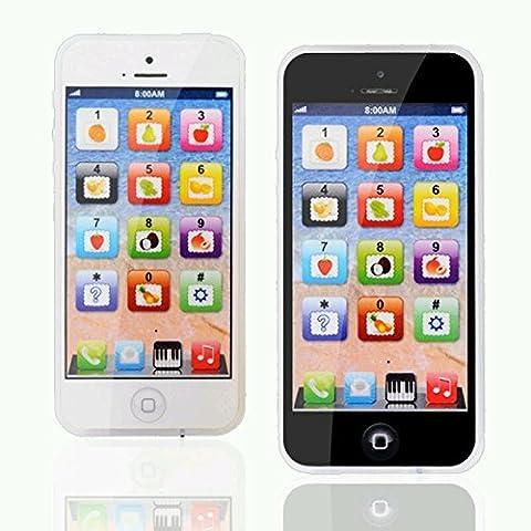 Y-Phone Enfants Bébé Enfants Jouet éducatif apprentissage Style 4s 5 Rechargeable Micro Port USB par Trimming Shop (Noir)