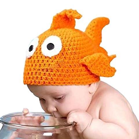 Baby Goldfisch Strickmützen Transer® Unisex Mädchen/Jungen Kleinkind Säugling Cap Hat Baumwolle Orange Wärmer Mützen Kopfbedeckung Größe: für 0-6 Monate Baby Fotografie