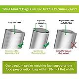KINDEN Vakuumierer Vakuumiergerät Folienschweißgerät LebensmittelVersiegler mit Heizspule inkl. 15 Vakuumbeutel - 6
