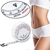 Cinta Métrica con el manual y la grasa corporal Medida de medición cinta retráctil de cuerpo