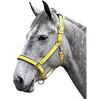 Shires Topaz 387 - Bozal para caballos de nailon, amarillo, XXS