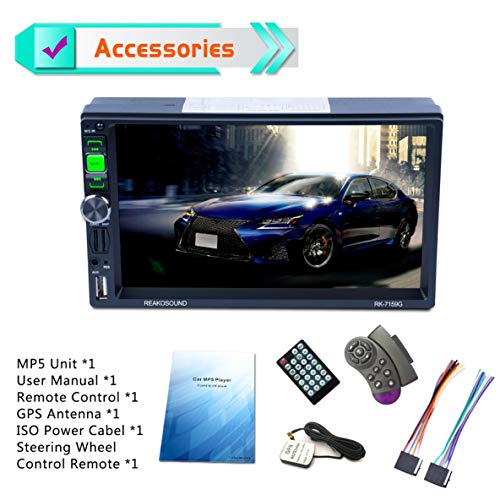 "7159G 7 ""Full HD 1080 P Auto DVD MP5 Spieler GPS Navigator Bluetooth FM / RDS Radio Auto Multimedia Player Unterstützung Mirrorlink"