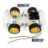OkaeYa Smart Car Chassis 4WD / Racing Car / Robot Car Chassis / Wheels / Motors (Transparent) - KG192