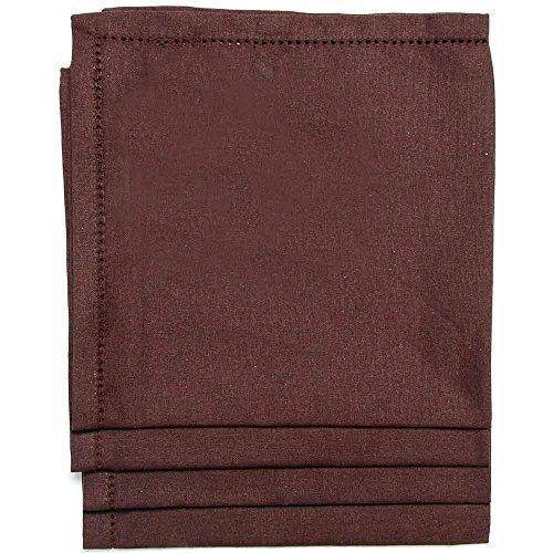 Homescapes 4 Serviettes de table de LUXE (45 x 45cm). Pur coton ULTRA DOUX. Couleur CHOCOLAT