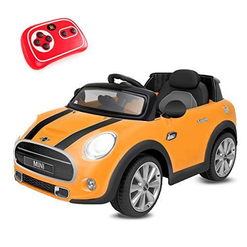 Playkin Coche Electrico Niños Mini Hatch, Color Amarillo