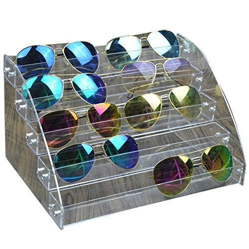 Krystallove Acryl Sonnenbrille Vitrine Inhaber Brillen Organizer Brillen Ablage Box klar