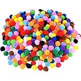 Blulu Craft Pompons pour Artisanat Fabrication et Loisirs Fournitures, 500 Pièces, 1.2 cm/0.5 Pouce, Couleurs Assorties