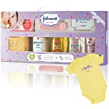 Johnson's Baby Care Collection with Organic Cotton Baby Dress Gift Set (8 Pieces)