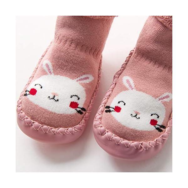 Adorel Calcetines Zapatos Antideslizantes Forros Bebé 2 Pare 10